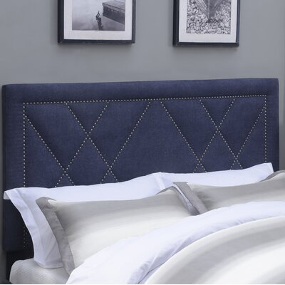 Garnes Upholstered Panel Headboard Size: Full/Queen, Upholstery Color: Denim