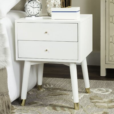 Ables 2 Drawer Nightstand Color: White