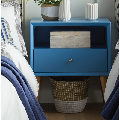Blakeney End Table With Storage Color: Heritage Blue