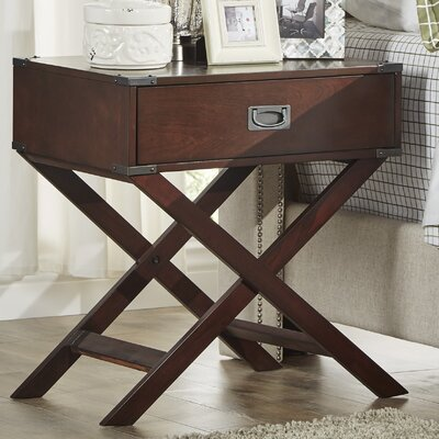 Marotta 1 Drawer End Table Color: Espresso