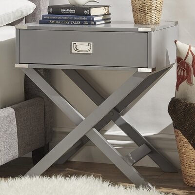 Marotta 1 Drawer End Table Color: Gray