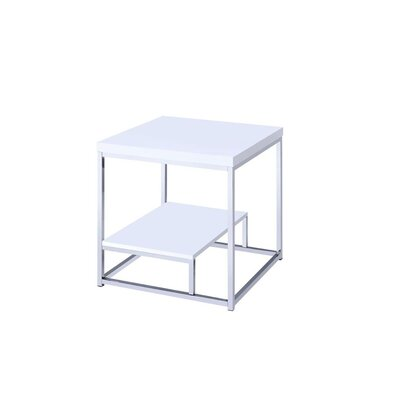 Corona End Table Color: White