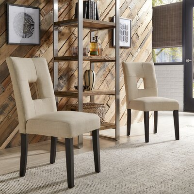 Belvin Upholstered Side Chair Upholstery: Beige