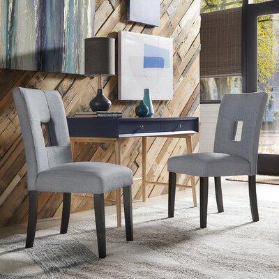 Belvin Upholstered Side Chair Upholstery: Blue