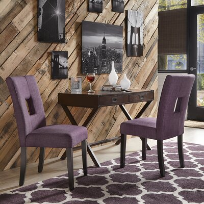 Belvin Upholstered Side Chair Upholstery: Purple