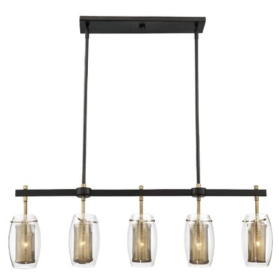 Depp 5-Light Kitchen Island Pendant Finish: Warm Brass/Bronze