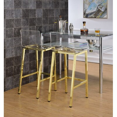Channing 29 Bar Stool Color: Gold