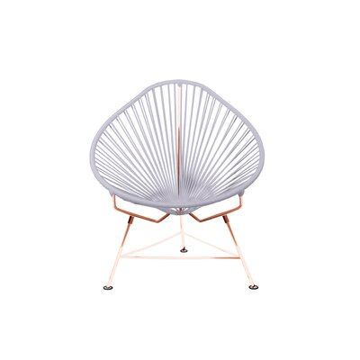 Borquez Papasan Chair Upholstery: Clear, Color: Copper