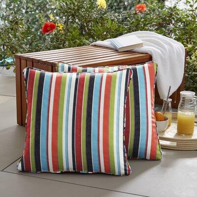 Midford Outdoor Sunbrella Throw Pillow Size: 18 H x 18 W