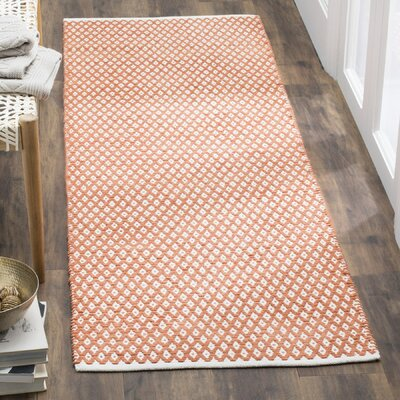 Amicus Hand Tufted Orange Area Rug Rug Size: Runner 23 x 7