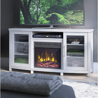 Whitt 54 TV Stand with Fireplace Finish: White Wood