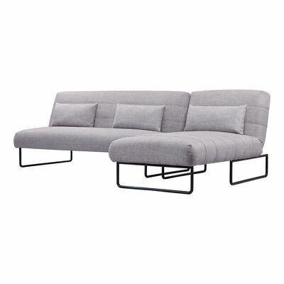 Babich Sleeper Sectional Upholstery: Gray Polyester/Linen