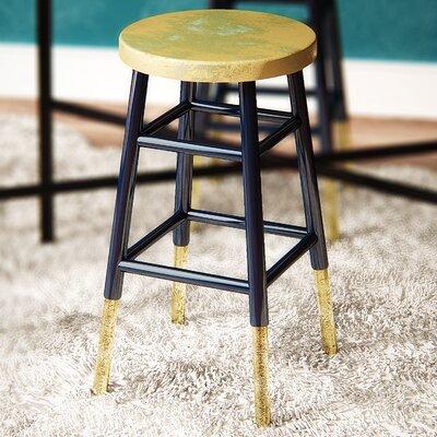 Platon 24 Bar Stool Upholstery: Navy / Gold