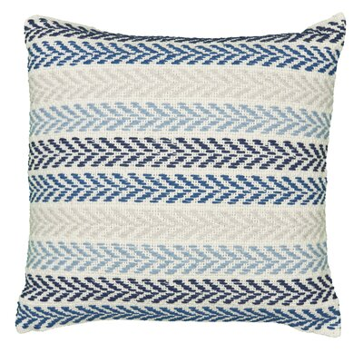 Chevron 100% Cotton Throw Pillow Color: Blue/Multi
