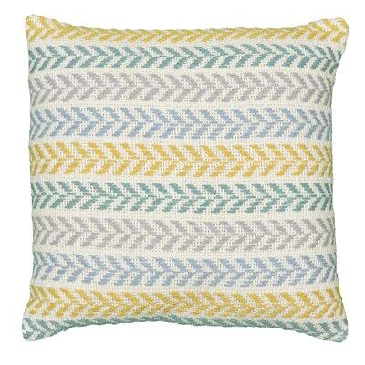 Chevron 100% Cotton Throw Pillow Color: Yellow/Green