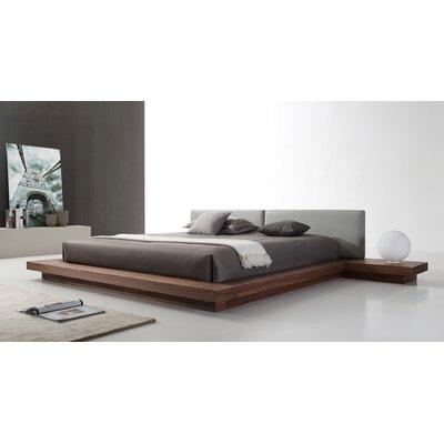 Noblitt Faux Leather Upholstered Platform Bed