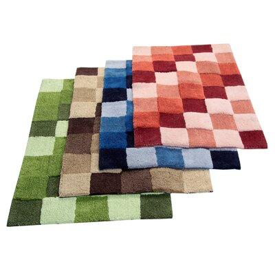 Better Trends Tiles Bath Rug (Set of 2) - Color: Burgundy