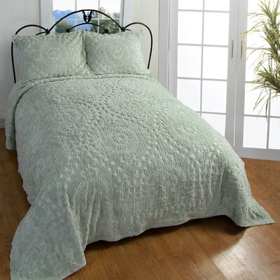 Better Trends Rio Bedspread - Size: King, Color: White