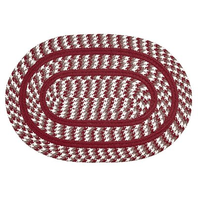 Crescent Braided Red Indoor/Outdoor Area Rug Rug Size: Round 6