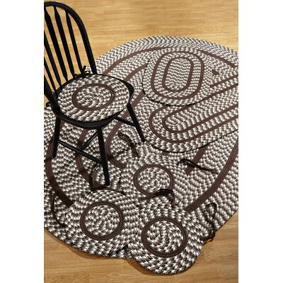 Crescent 7 Piece Chocolate Indoor/Outdoor Area Rug Set