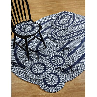 Crescent 7 Piece Navy Indoor/Outdoor Area Rug Set
