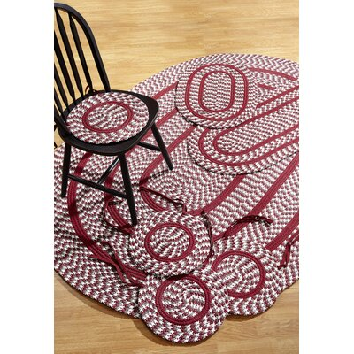 Crescent 7 Piece Burgundy Indoor/Outdoor Area Rug Set