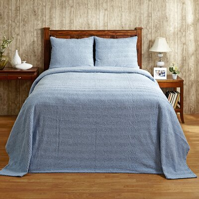 Natick Bedspread Color: Blue, Size: Twin