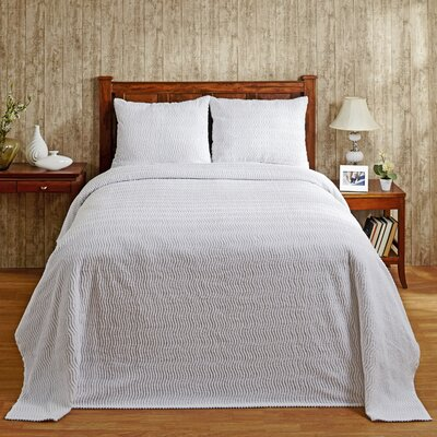 Natick Bedspread Size: King, Color: White