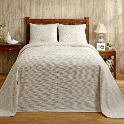 Natick Bedspread Size: Queen, Color: Ivory