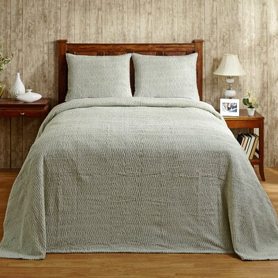 Natick Bedspread Size: King, Color: Sage