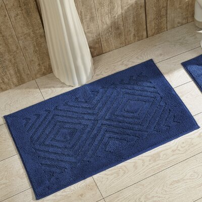 Trier Bath Mat Color: Blue