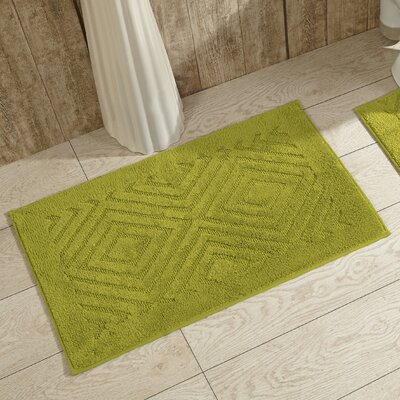 Trier Bath Mat Color: Green