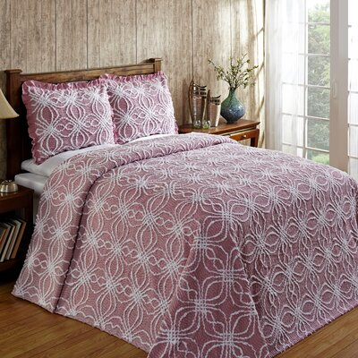 Rosa Bedspread Size: King, Color: Pink