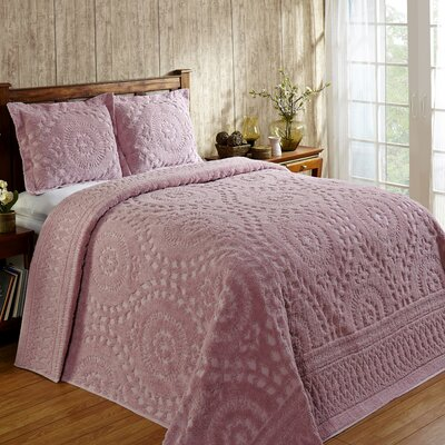 Faunia Cotton Bedspread Size: Full, Color: Pink