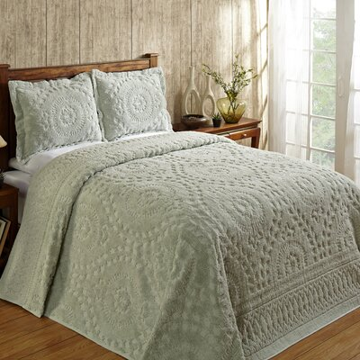 Faunia Cotton Bedspread Size: Full, Color: Sage