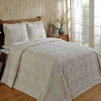 Rosa Bedspread Size: Queen, Color: Ivory