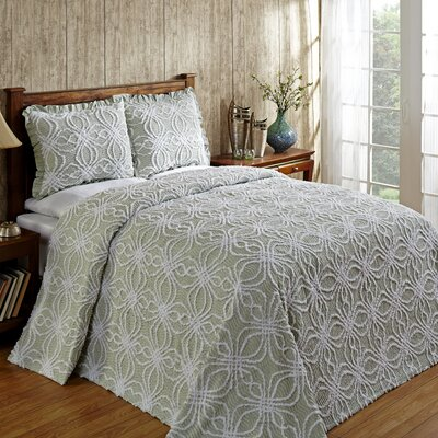 Rosa Bedspread Size: Queen, Color: Sage