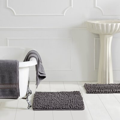 Micro 3 Piece Bath Rug Set Color: Grey