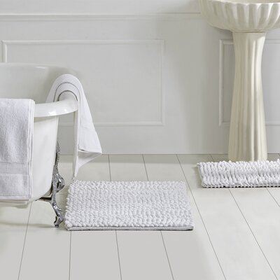 Micro 3 Piece Bath Rug Set Color: White