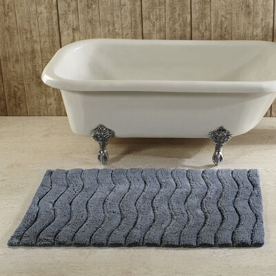 Castine Bath Rug Size: 27 x 45, Color: Silver Grey