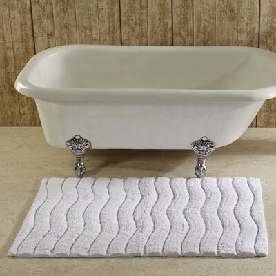 Indulgence Bath Rug Color: White, Size: 27 x 45