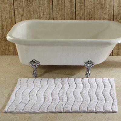 Indulgence Bath Rug Color: White, Size: 27 x 45