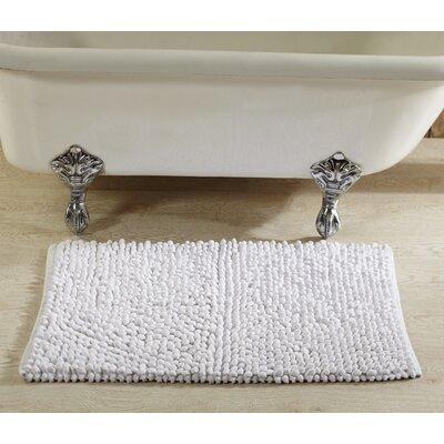 Chenille Rock Bath Mat Color: White