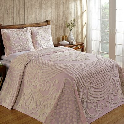 Florence Bedspread Size: King, Color: Pink