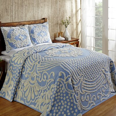 Florence Bedspread Size: Twin, Color: Blue