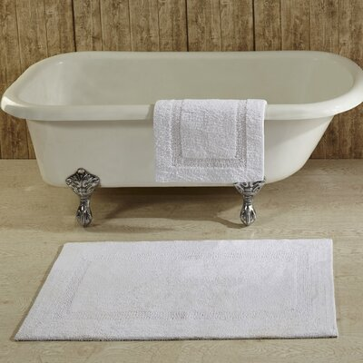 Campos Bath Mat Color: White, Size: 24 x 40