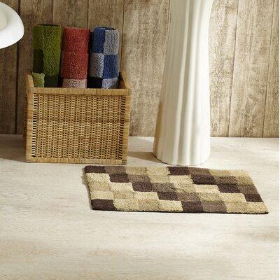 Tiles Bath Rug Color: Brown