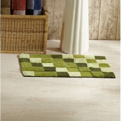 Tiles Bath Rug Color: Hunter