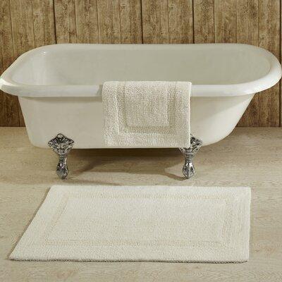 Lux Bath Mat Size: 17 x 24, Color: Ivory