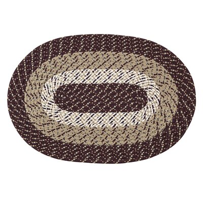 Braided Stripe Brown/Taupe Area Rug Rug Size: 54 x 84